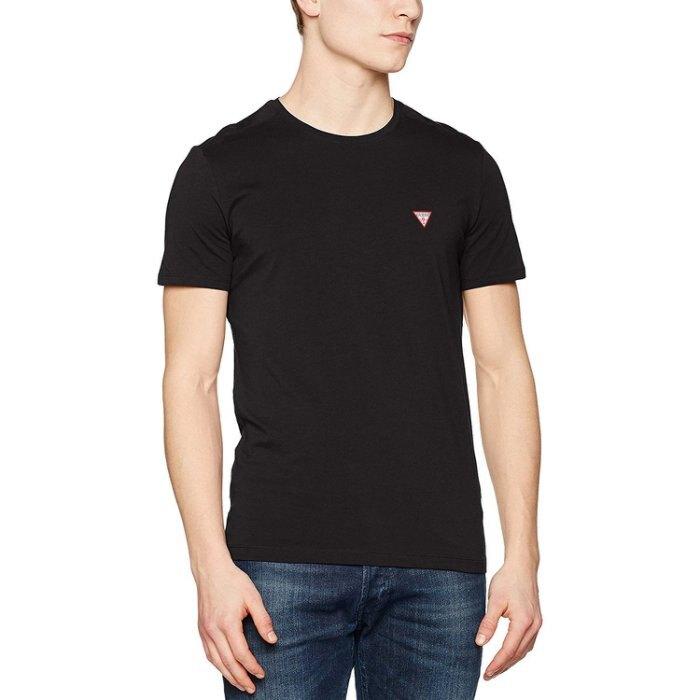 美國百分百【全新真品】Guess T恤 T-shirt 短袖 短T 經典 logo 素面 上衣 黑色 S號 I195。流行男裝與男鞋人氣店家美國百分百的首頁有最棒的商品。快到日本NO.1的Rakute