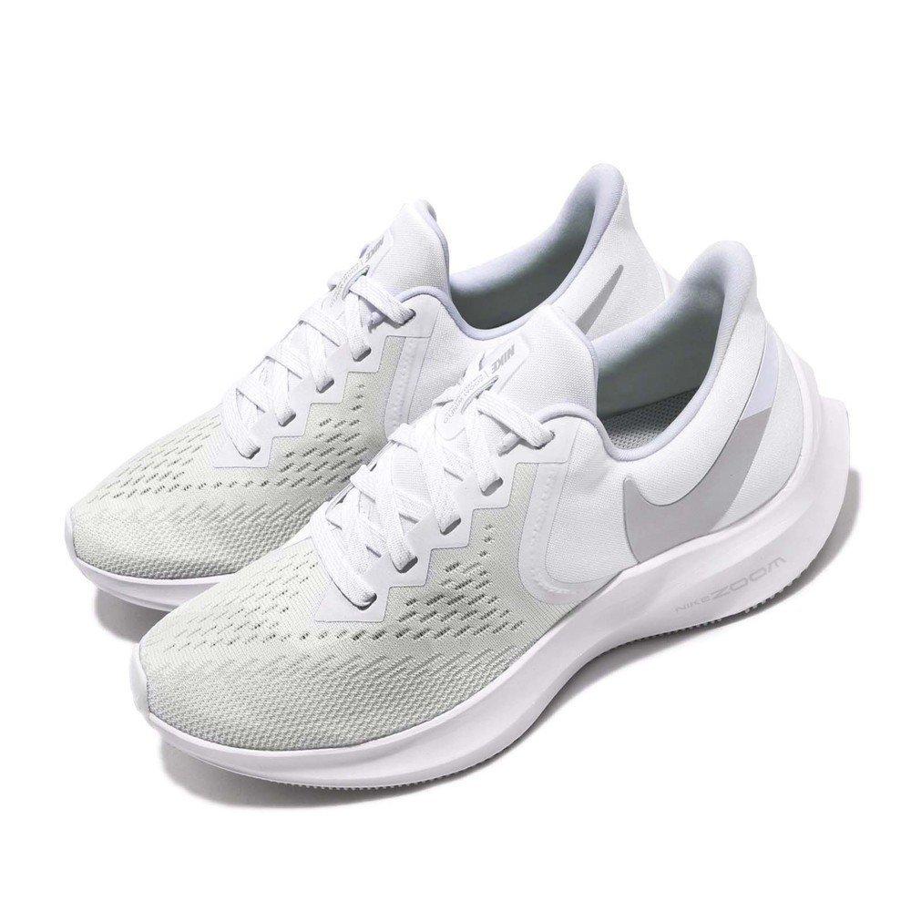 NIKE 慢跑鞋 Zoom Winflo 6 運動 女鞋 氣墊 避震 路跑 健身 透氣 舒適 球鞋 白 [AQ8228-100]