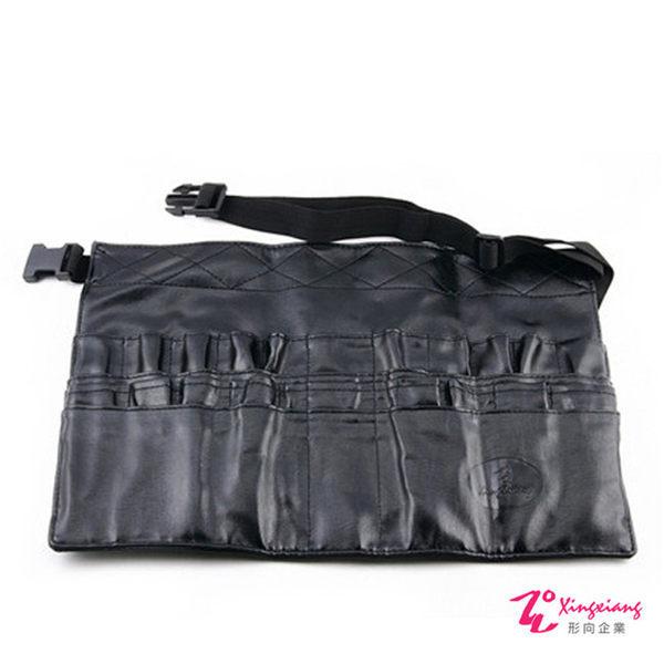 Xingxiang形向 專業黑色皮革化妝腰包(20孔) Q-75-1