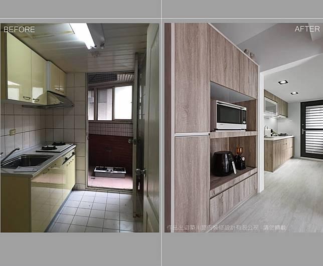 廚房改造案例七:改造前後