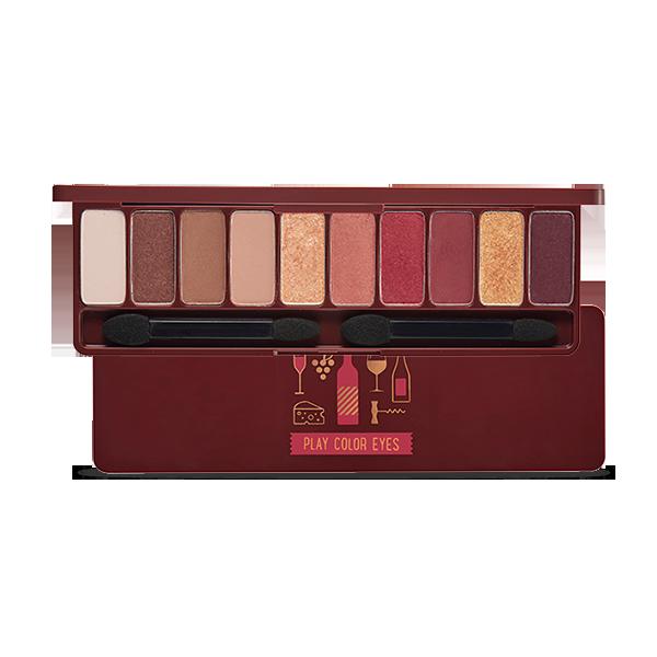 以微醺酒紅色為主色調的10色眼影盤,打亮、打底、陰影及酒紅主色調一盤搞定,輕鬆打造優雅時尚妝容。