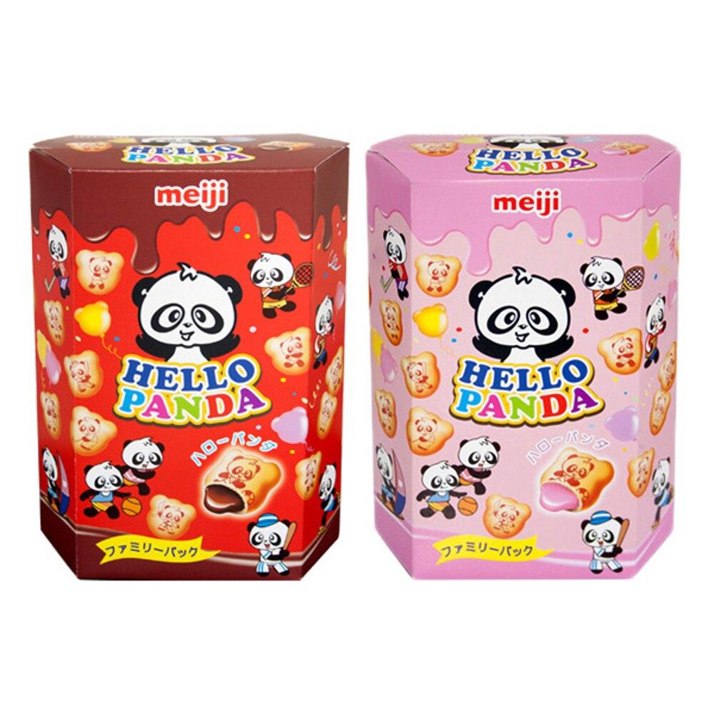 meiji 明治 貓熊夾心餅乾(175g) 巧克力/草莓 兩款可選【小三美日】◢D340119