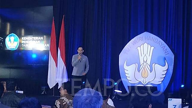 Education and Culture Minister Nadiem Makarim introduces four policies for universities at the Education and Culture Ministry Building in Jakarta, Friday, January 24, 2020. TEMPO/Putri
