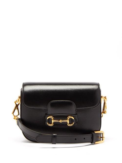 Gucci - 1955 Horsebit Mini Grained-leather Shoulder Bag - Womens - Black