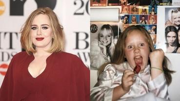 愛黛兒小時候照片公開原來是一位迷妹,當時房間貼滿這個偶像團體海報!