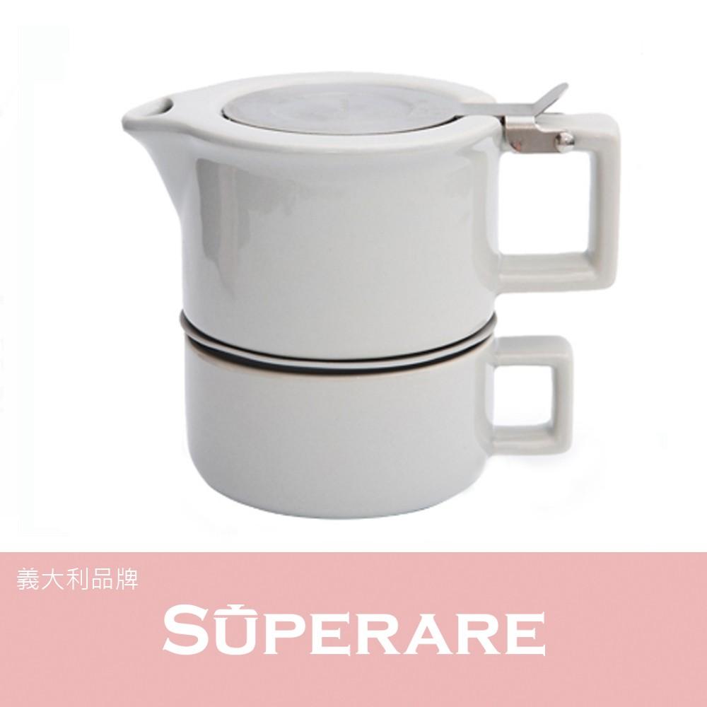 【SUPERARE】時尚 鑄瓷 獨享 造型 沖泡 下午茶 杯壺組 多色 現貨