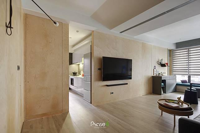 木質作為基調的客廳