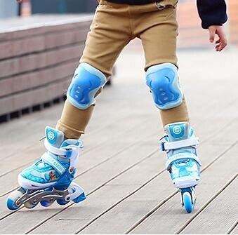 直排輪 溜冰鞋兒童全套裝滑冰輪滑鞋旱冰可調中大童小孩男女初學者【快速出貨八折搶購】