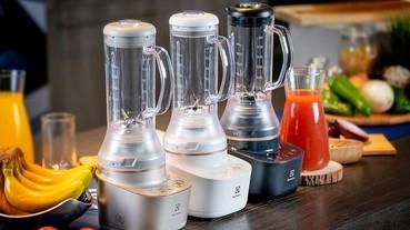 伊萊克斯推出全新「主廚系列」全能調理果汁機,搭載10度傾角設計與三段瞬速功能