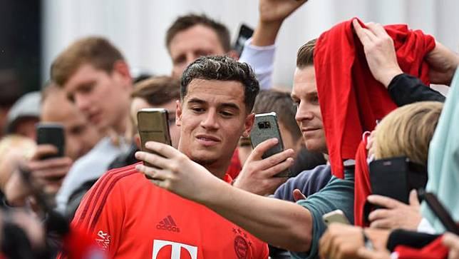 Intip Latihan Perdana Philippe Coutinho di Bayern Munchen