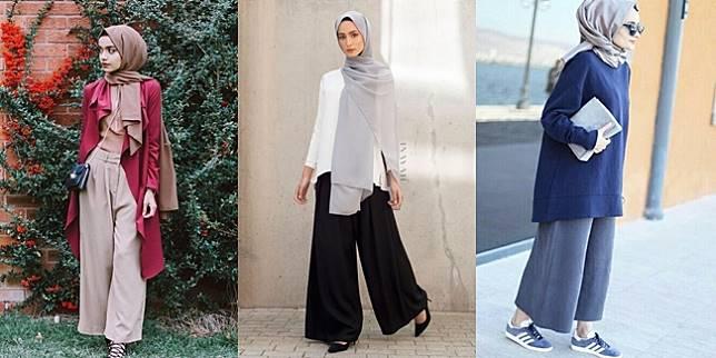 Ragam Ide Padu Padan Hijab Dan Celana Kulot Yang Lagi Hits