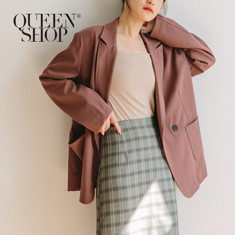 Queen Shop【02030343 】復古感雙釦造型西裝外套*現+預*。流行女裝與女鞋人氣店家Queen Shop的▍LADY- 9/25 LIFE LOVE&FREEDOM有最棒的商品。快到日本