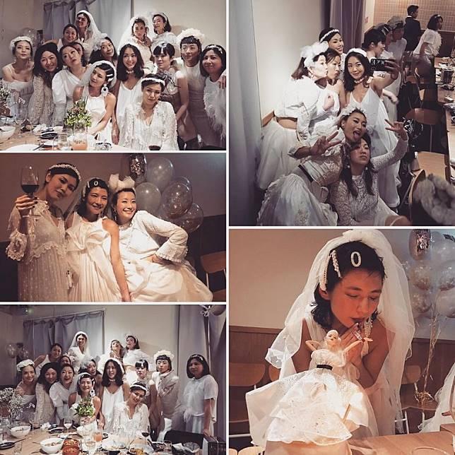 個個都打扮到新娘子咁!