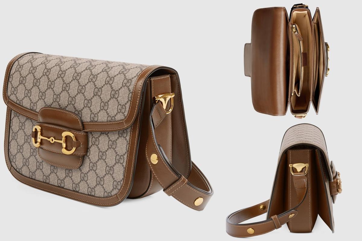 Gucci 1955馬銜扣肩揹袋,NT.75900