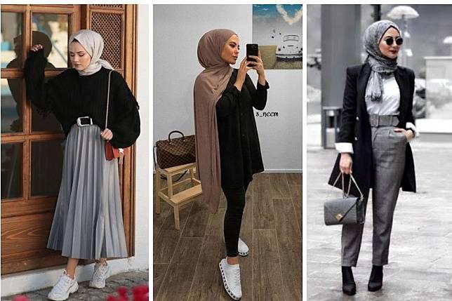 8 Ootd Hijab Dengan Atasan Hitam Anti Bosan Dan Terlihat Stylish