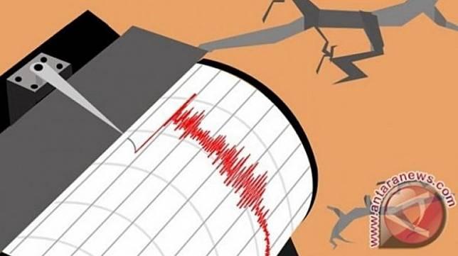 Ilustrasi gempa bumi. [Antara]