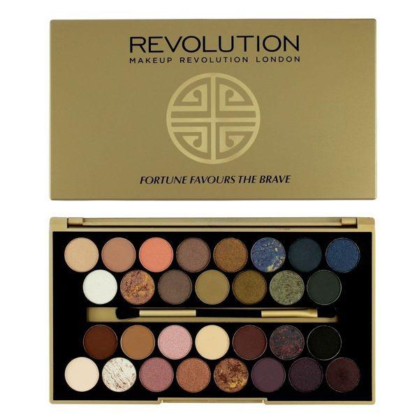 英國 Makeup Revolution Fortune Favours The Brave 30色珠光霧面眼影盤