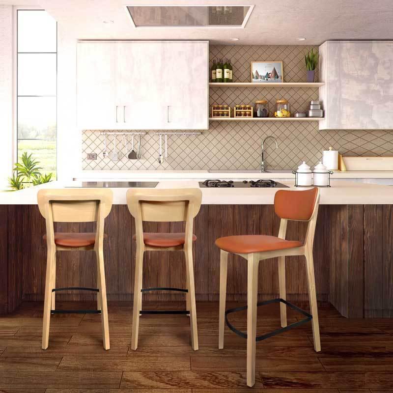 遠比金屬固定的結構(因螺絲不時鬆脫)來的穩固且耐用。 商品規格 材質:Ash 北美梣木 / 一般漆裝 尺寸:W46xD54xH94.5cm, SH67 (座墊最高點) 重量:6.2 kg 內容物:吧椅