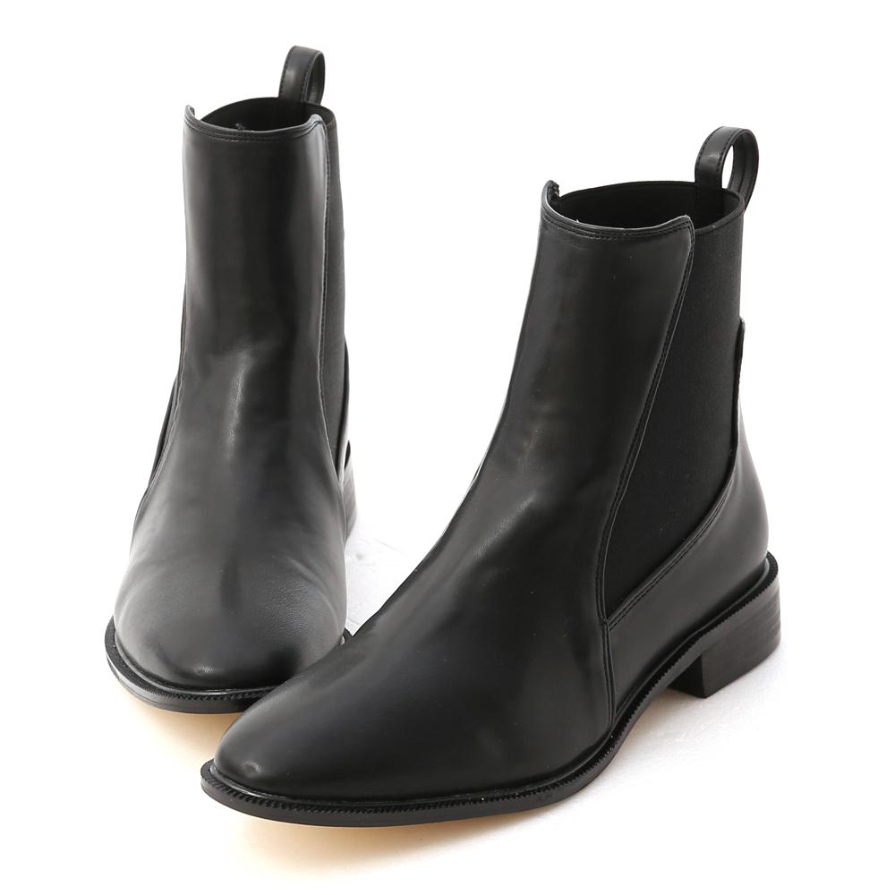 D+AF 酷派率性.撞色拼接切爾西短靴