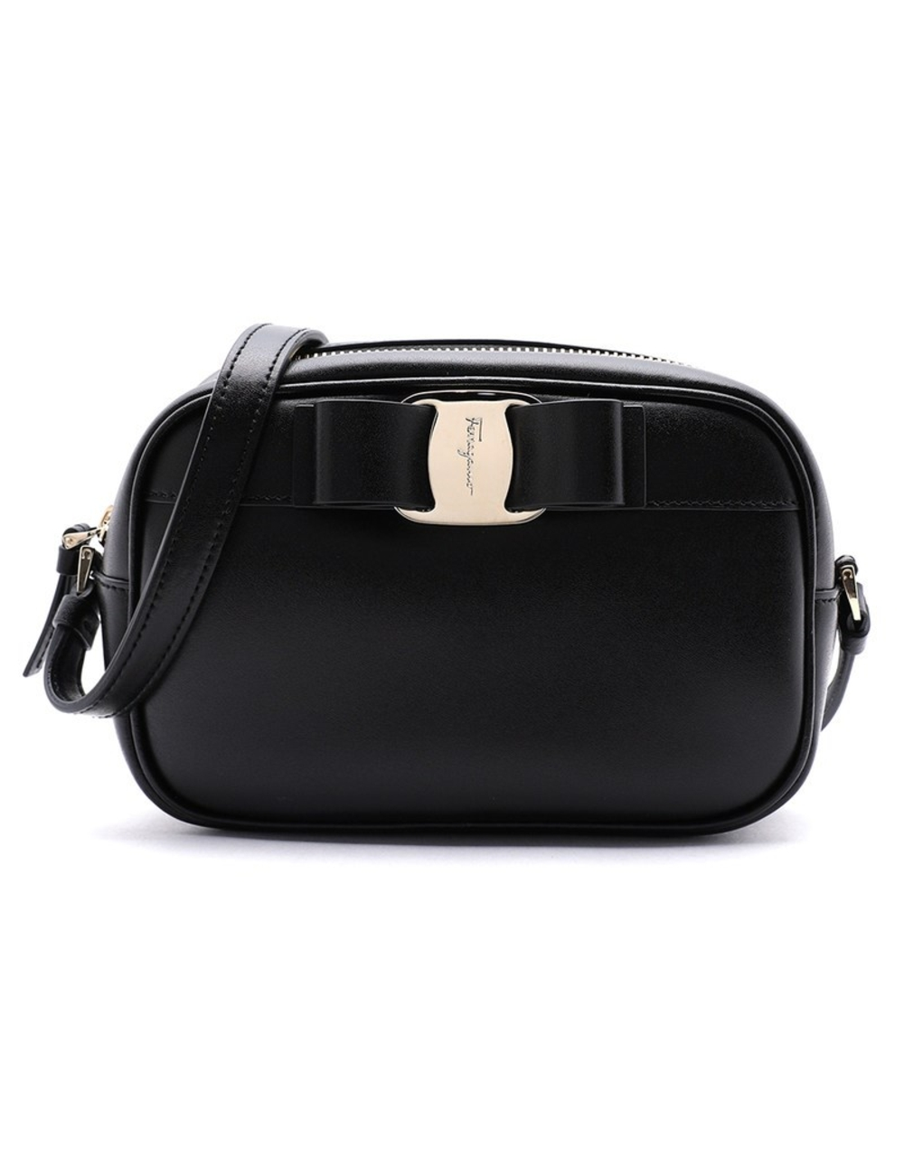 Salvatore Ferragamo女士Vara弓相機包 類別:女裝> BAG>手提袋>手提袋 年份:假 顏色代碼(RGB代碼):#030303 性別:女性