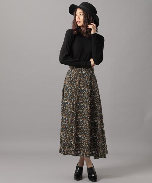 微高腰假兩件式異材質拼接連身裙