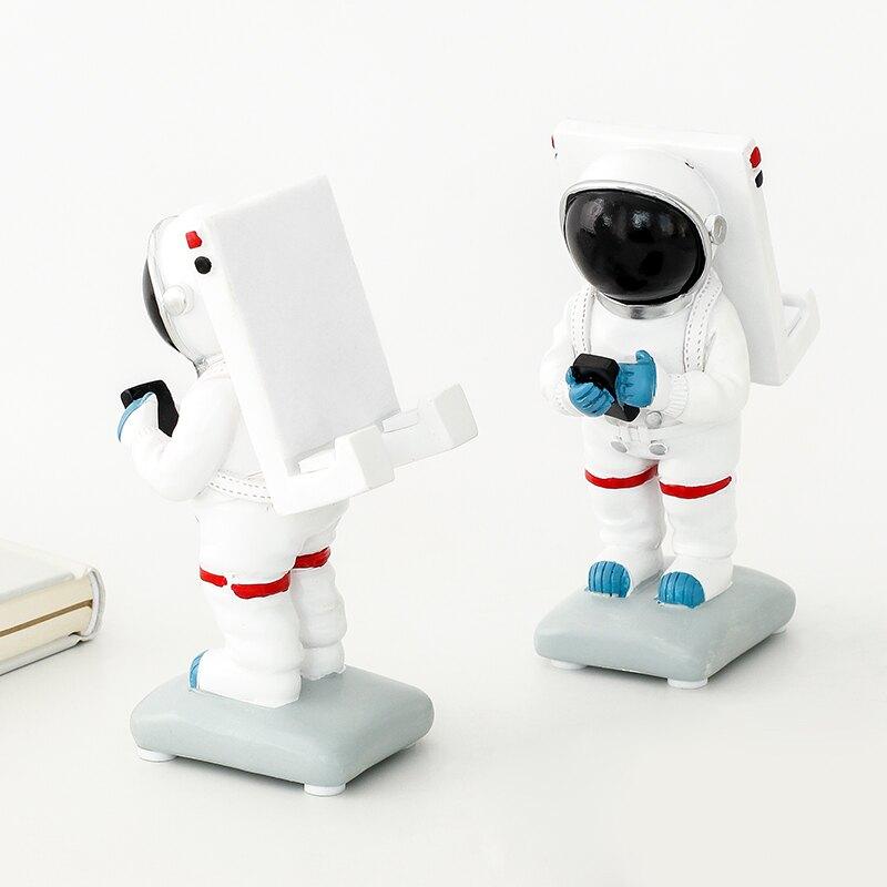 太空人手機支架 創意宇航員擺件禮物 學生宿舍桌面手機座懶人支架