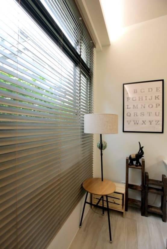 風格百搭又易於清潔的木質窗簾