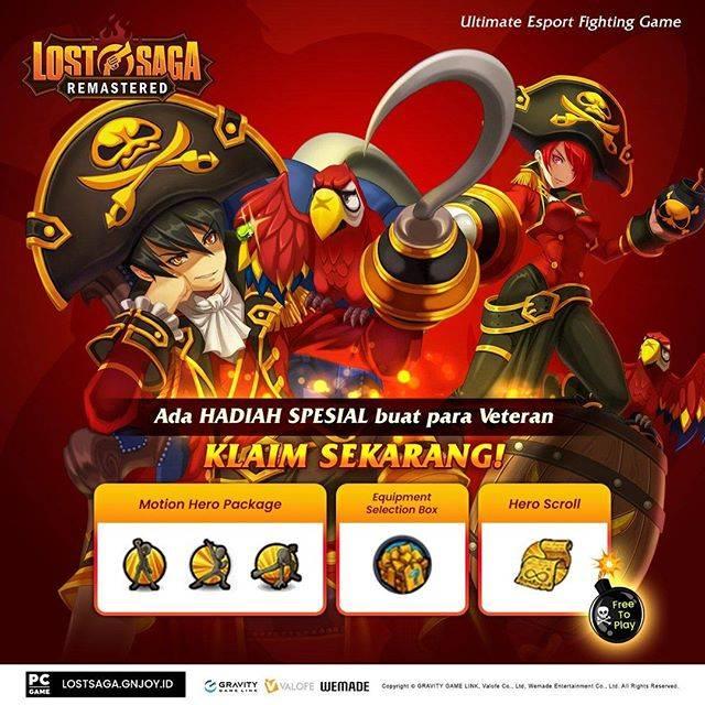 Veteran Lost Saga Gemscool Berhak Dapatkan Item Menarik di Lost Saga Remastered