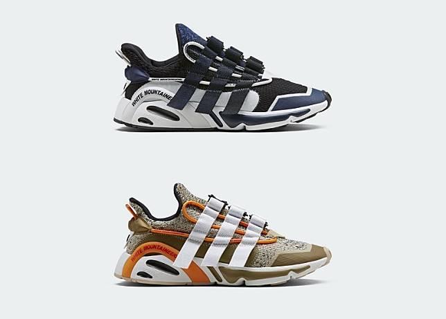 鞋身的透明支撐管及鞋踭外側支架均有「WHITE MOUNTAINEERING」字樣點綴。(互聯網)