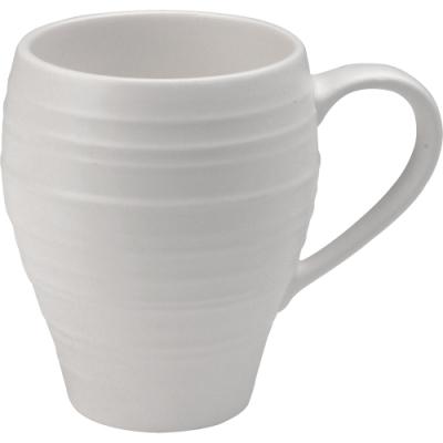 適用牛奶果汁咖啡 適合盛裝冷飲熱飲 純色漣漪質樸簡約 圓潤杯耳舒適好拿 溫潤陶製舒適手感