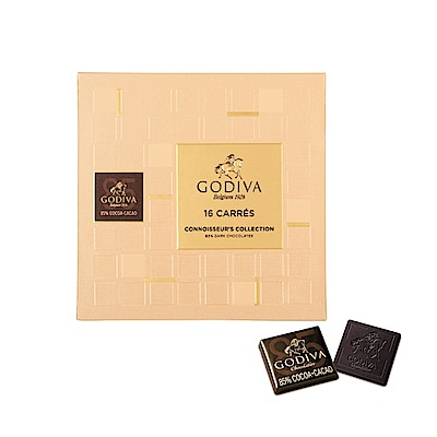 GODIVA 85%黑巧克力片禮盒(16片/盒)