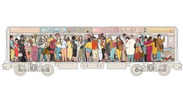 坐地鐵輕鬆點,來看看插畫家筆下的超狂紐約地鐵日常