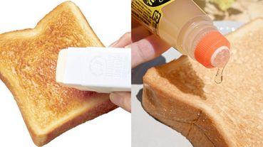 【ELLE怪奇物語】這罐膠水竟然是蜂蜜!日本創意發明「蜂蜜膠水」、「奶油口紅膠」,讓吃吐司變得超文青