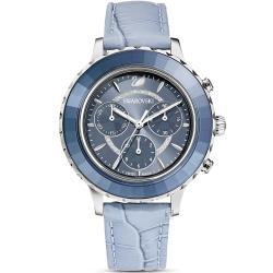 SWAROVSKI 施華洛世奇 Octea Lux Chrono計時腕錶-5580600-冰川藍
