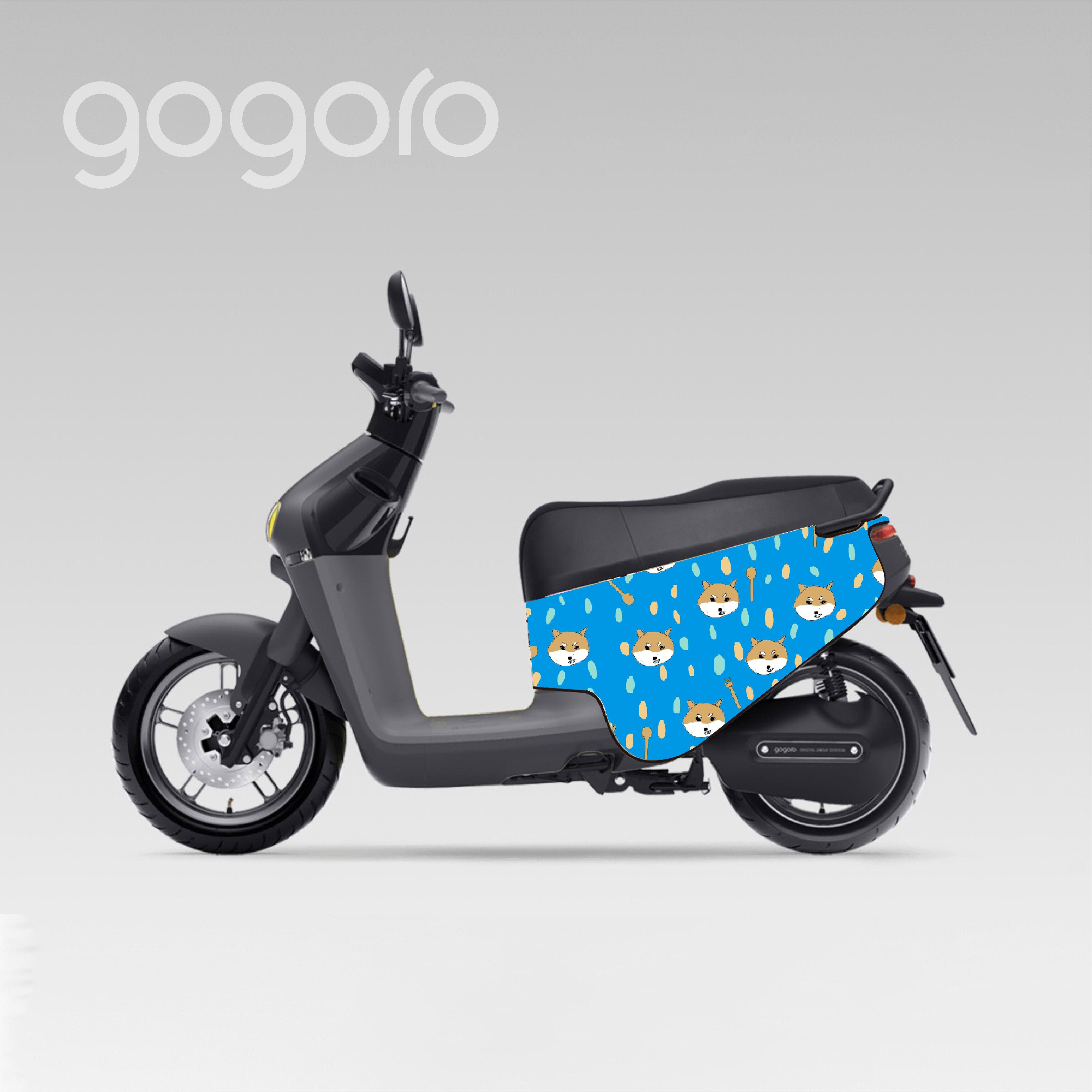 BLR gogoro ID12 手繪柴犬 雙面車套 車身防刮套 潛水衣布 防刮套 保護套 車套 機車配備 電動車防刮 智慧雙輪