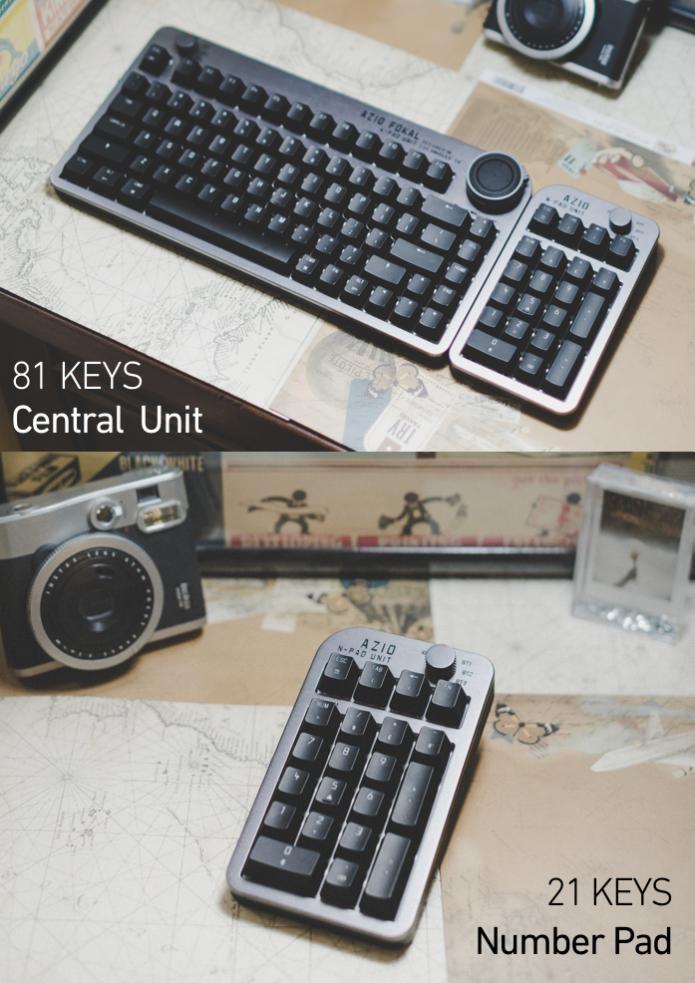 Fokal具有分離的主鍵盤與數字鍵盤,2者皆採無線傳輸。