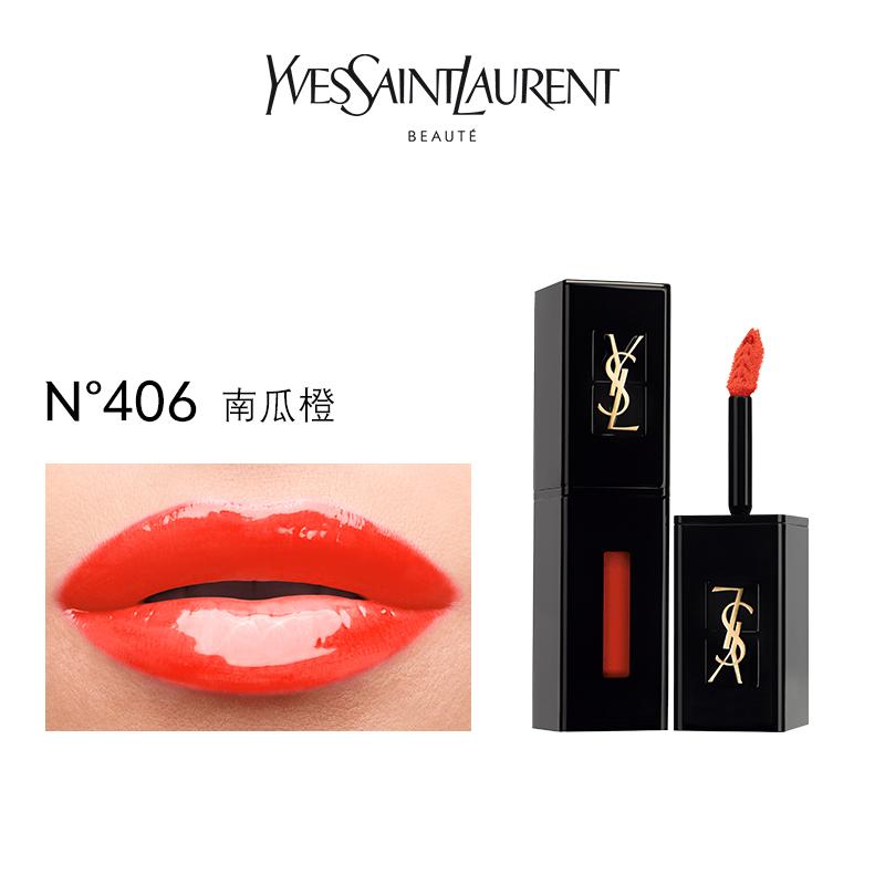 【55預售】正品 YSL聖羅蘭黑管唇釉 鏡麵閃耀持久舒適番茄紅416