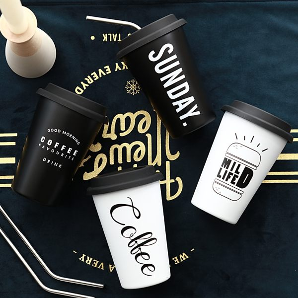 北歐風不鏽鋼咖啡杯 304不鏽鋼n不鏽鋼杯 水杯 隨手杯n隨行杯 冷水杯 環保杯n咖啡杯 飲料杯