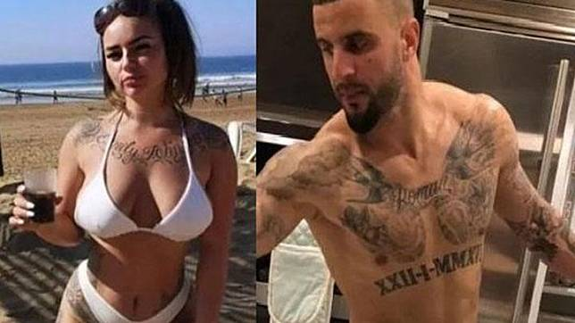 Bek Manchester City Kyle Walker (kanan) disebut menggelar pesta seks bersama dua perempuan di tengah masa isolasi karena virus corona di Inggris. Salah satu perempuan yang bernama Louise McNamara (kiri) tersebut membuka kejadian tersebut ke media. Itsbiography.com