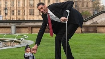 歷史性會面 金氏世界紀錄最高與最矮人於倫敦相見