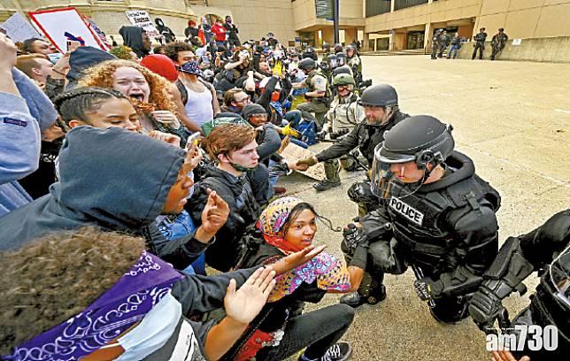 示威者圍白宮 傳特朗普急躲地堡