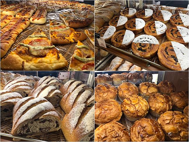 ▲全聯阪急麵包品項從原來的49種增加至60種的選擇。(圖/記者彭夢竺攝,2019.2.12)