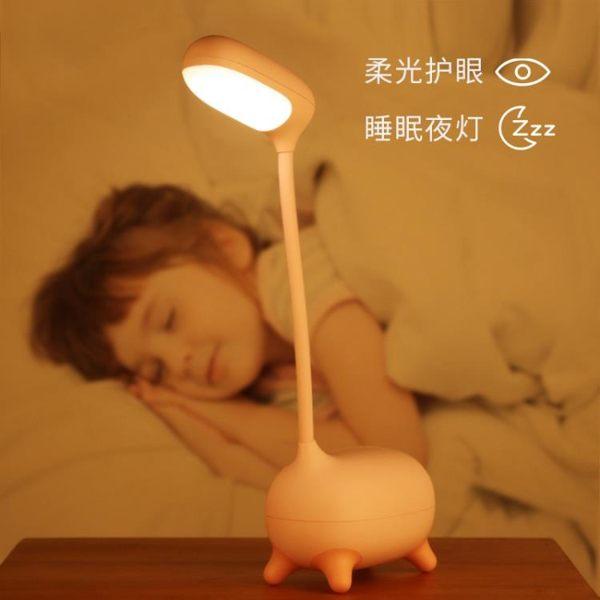 remax鹿小萌LED護眼臺燈書桌大學生臥室床頭燈創意浪漫可愛宿舍超長續航