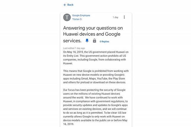 Google tak bisa dipakai di ponsel Huawei, ini penjelasannya