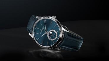 簡約的線條設計 MASTER ULTRA THIN MOON ENAMEL 超薄大師系列月相琺瑯腕錶
