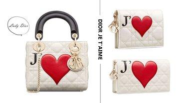 Lady DIOR經典包款推出「愛心款」!Dior Amour愛心系列,立體花紋馬鞍包也太美了吧!