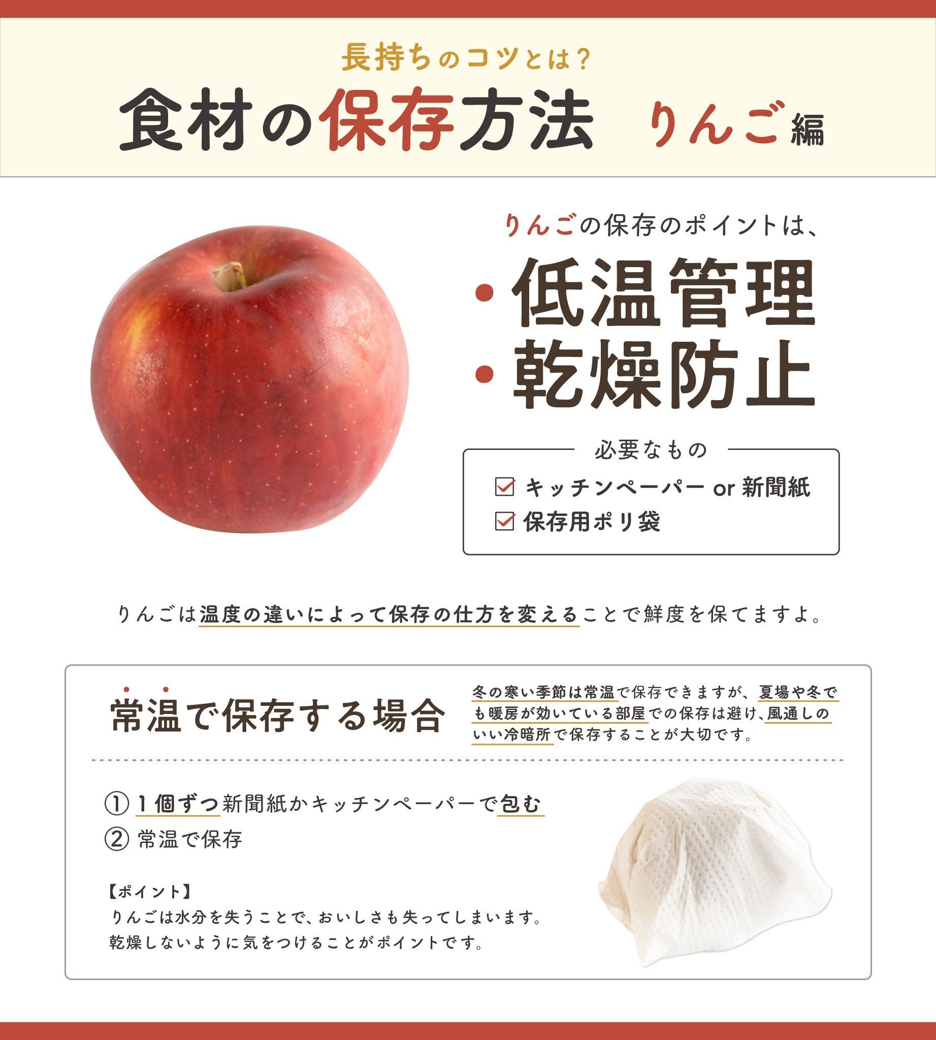 保存 方法 の りんご