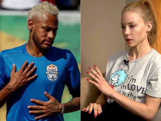 Neymar (kiri) dan Najila Trindade