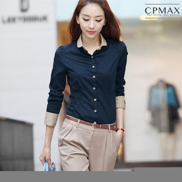 CPMAX 韓系OL上班女襯衫 女長袖襯衫 面試襯衫 上班襯衫 OL襯衫 商務襯衫 女上班 女襯衫 W38