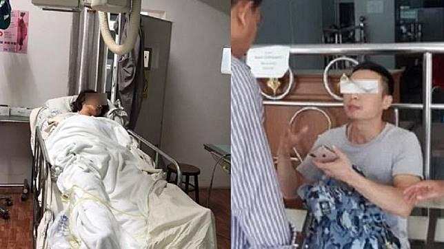 孕婦王女(左)墜落山崖送醫昏迷;丈夫俞男(右)。圖/翻攝自紅星新聞、騰訊網